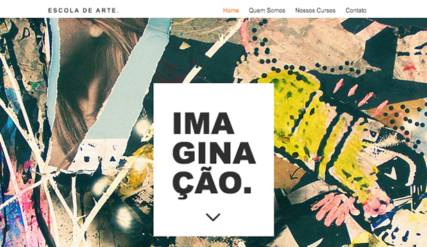 Design website templates – Escola de Arte