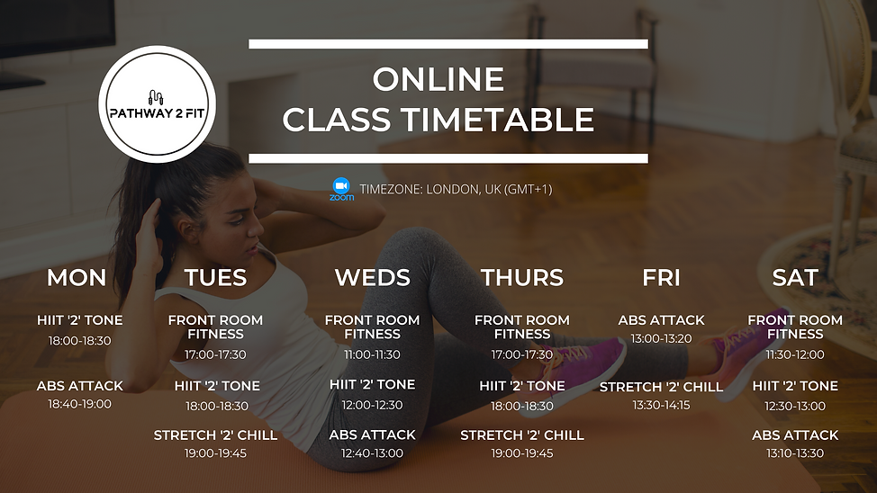 Updated Online Class Timetable May 15 20