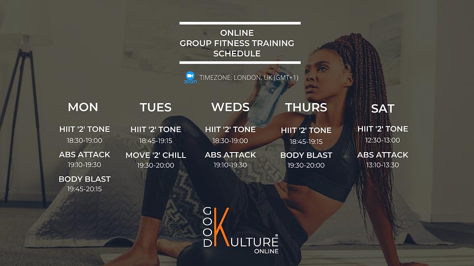 Good Kulture Online Fitness Class Timeta
