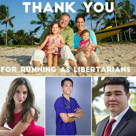 Thank you for running as a libertarian Gregory Arianoff