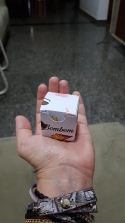 caixa para 1 bombom