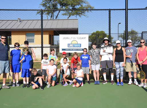 Lake Travis Tennis Association hosts family clinic in Rough Hollow