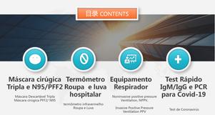 Os fornecidores  chinês de suprimento de  anti-epidêmicos para importadores brasileiras