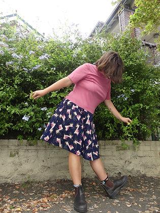 60's drop waist dress