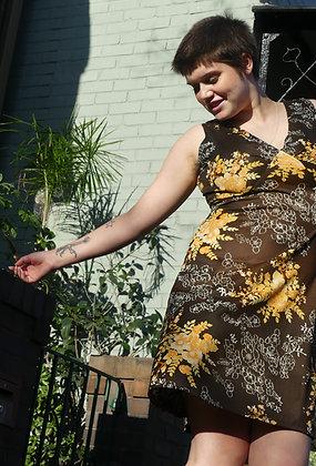70's autumn florals dress