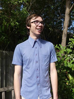 70's blue body shirt