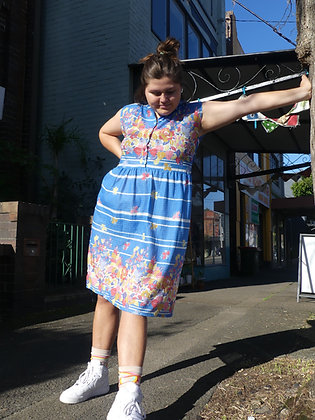 70's spring house dress