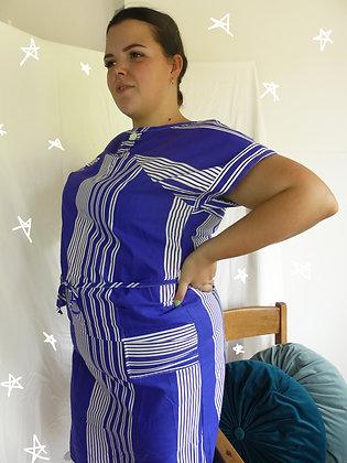 80's nautical wiggle dress