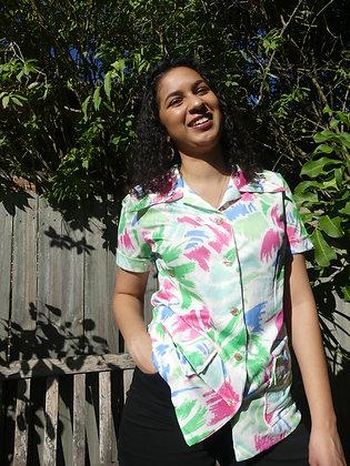 70's watercolour safari shirt