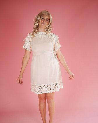 70's tie-up dress