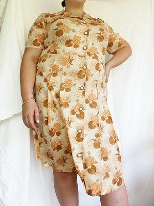70's foliage house dress