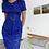 Thumbnail: 80's cobalt brocade hourglass dress