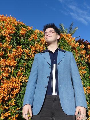 70's blue blazer