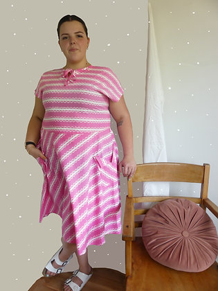 80's bubblegum sailor dress