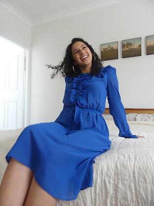 70's Cobalt dress