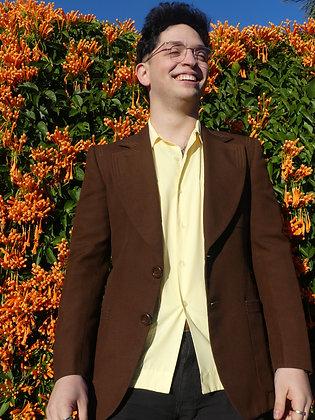 70's chocolate brown blazer