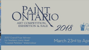 Two pieces of Morton Art accepted by the Jury at Paint Ontario 2018