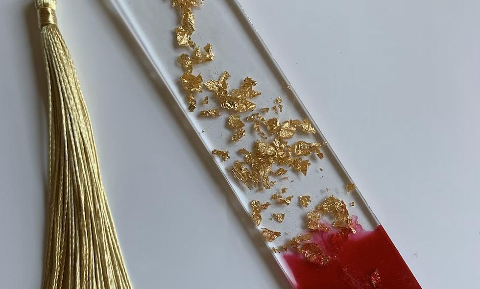 """Golden Hour  5.5"""" Resin Bookmark"""