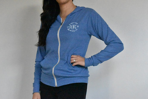 Women's light blue hoodie