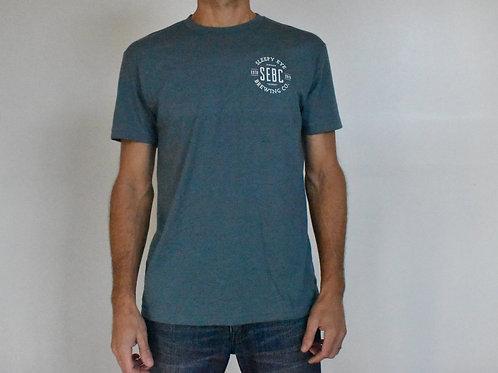 Men's heather blue crew t-shirt