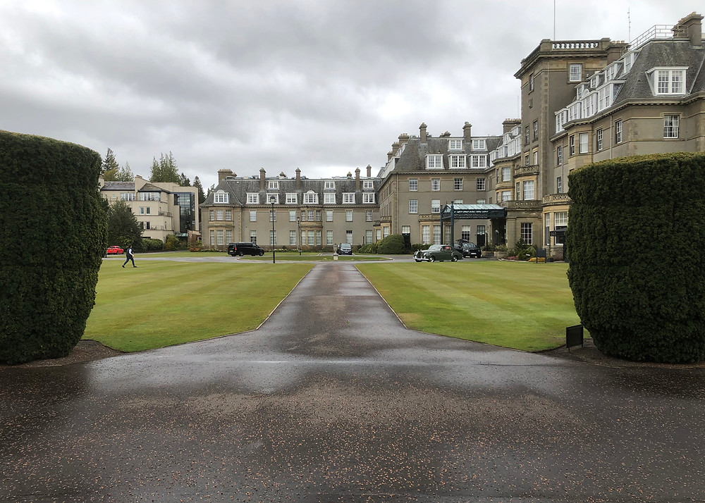 A photograph of the exterior of the Gleneagles Hotel in Scotland