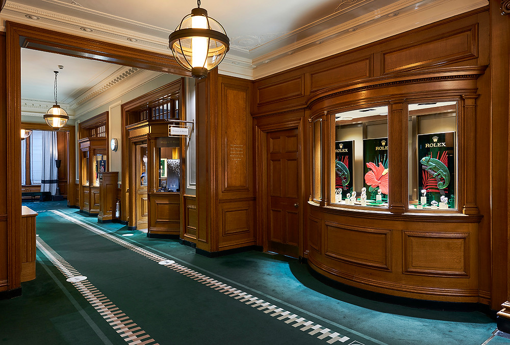 A photograph of the Mappin and Webb boutique in Gleneagles Hotel