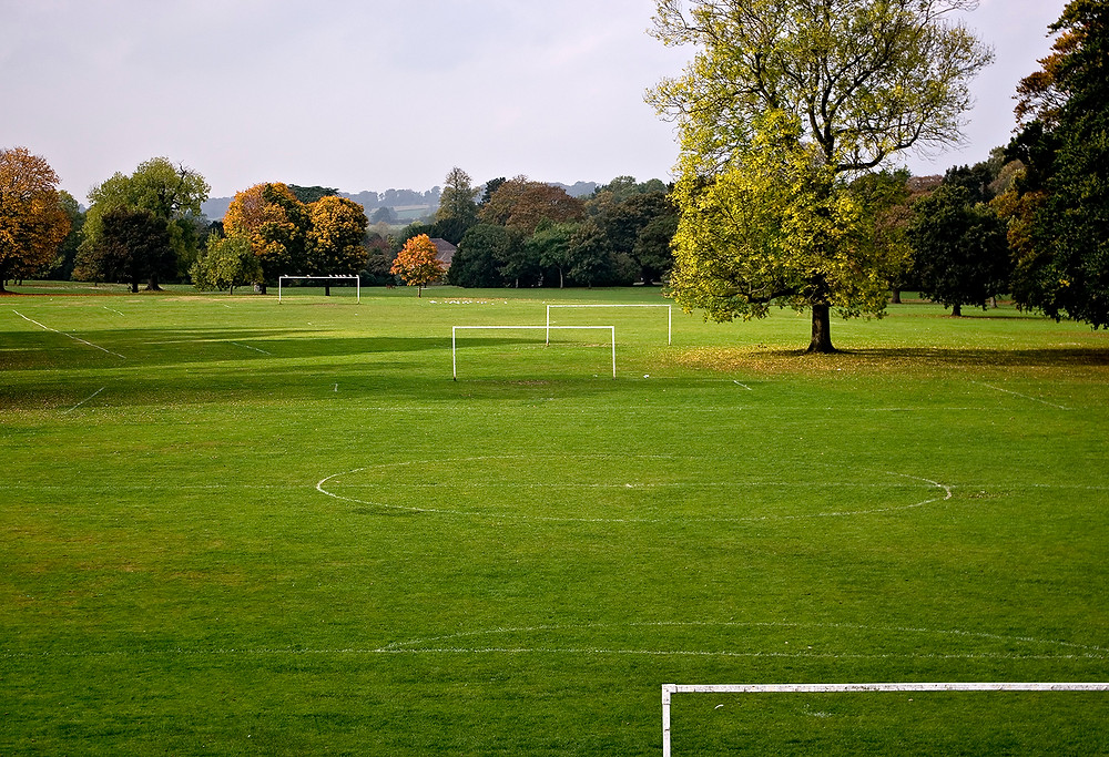 Football pitches in Marketon Park, Derby