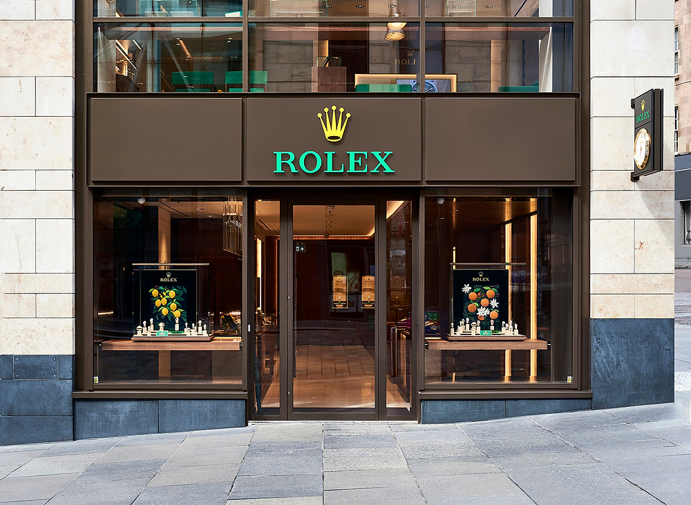 Photograph of the Rolex store in Glasgow