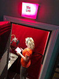 Eilidh in the vocal booth