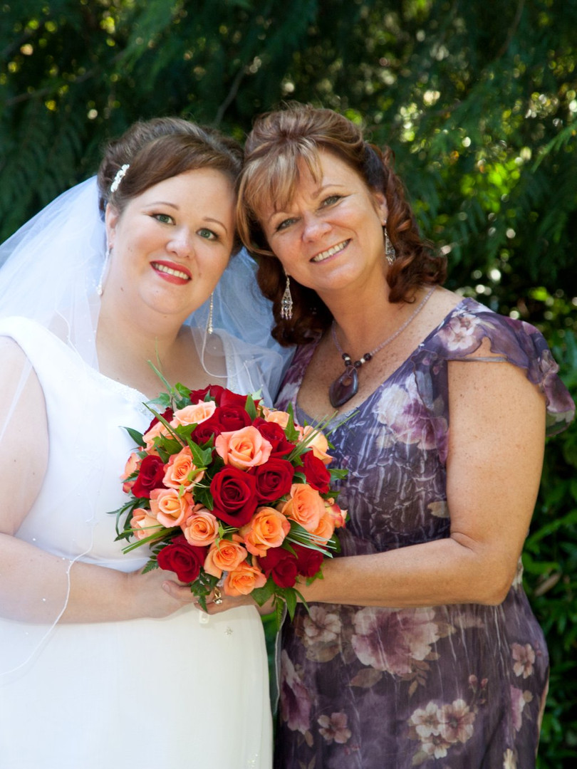 bride classic elegant + mom natural