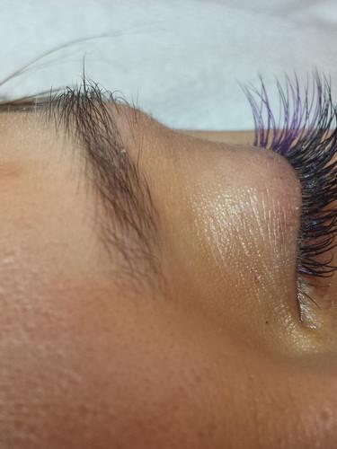 purple accent lashes