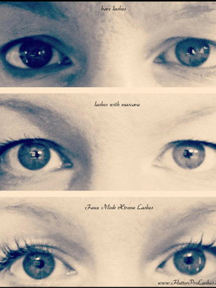 before | with mascara | with natural + pretty lashes!