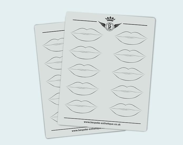 'LIPS DESIGN' PRACTISE INK-LESS LATEX -  (10pcs)