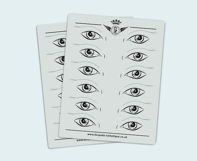 'EYES DESIGN' PRACTISE INK-LESS LATEX -  (10pcs)