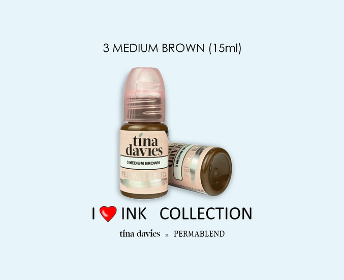 3 MEDIUM BROWN Pigment (15ml)