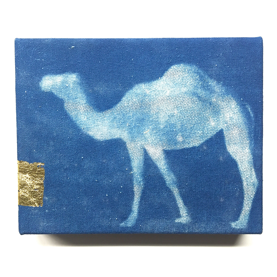 Arabian Camel with gold leaf