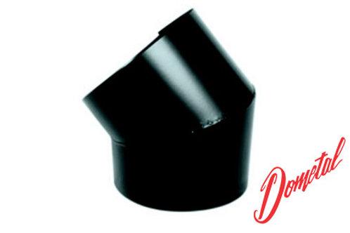 Cotovelo 45° em chapa galvanizada, pintura preta