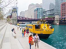 Chicago Riverwalk-Water Taxi