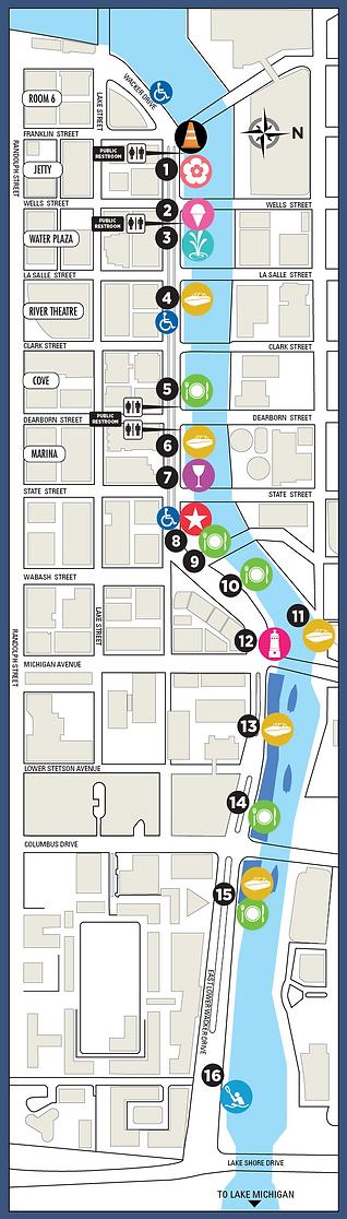 Chicago Riverwalk Mobile Map