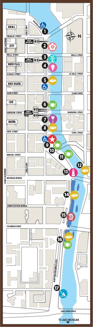 Riverwalk Chicago Map.Chicago Riverwalk Map