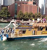 Chicago Riverwalk Island Party Hut Boat Rentals