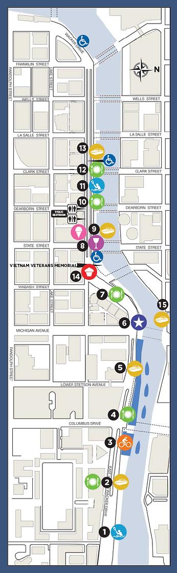 Chicago Riverwalk Mobile Map 2016