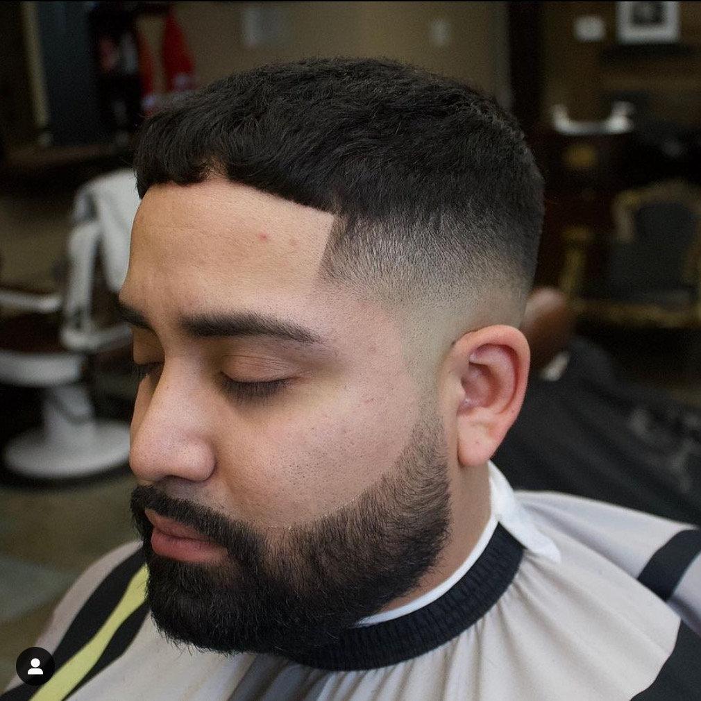 Haircut w Beard & Eyebrows (BW)