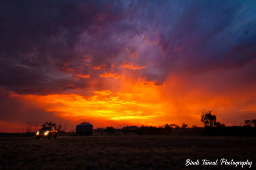 Fire in the Sky - Springsure, Central Queensland