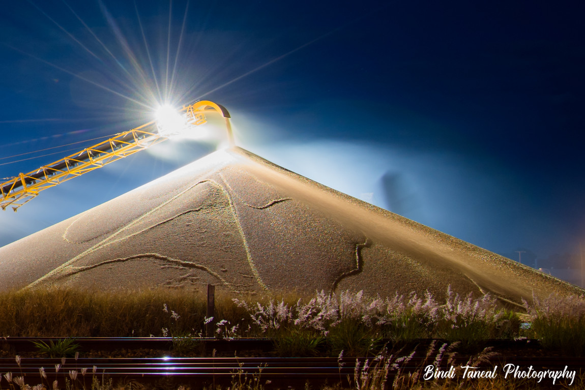 Graincorp at night - Emerald, Central Queensland
