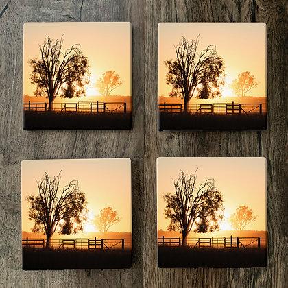Ceramic Coasters - Sunset Dust