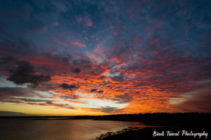 Sunset over the Fairbairn Dam - Emerald, Central Queensland