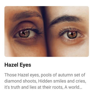 Hazel Eyes Poem