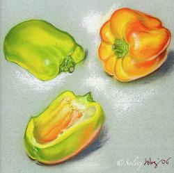 Deux poivrons presque jaunes 528