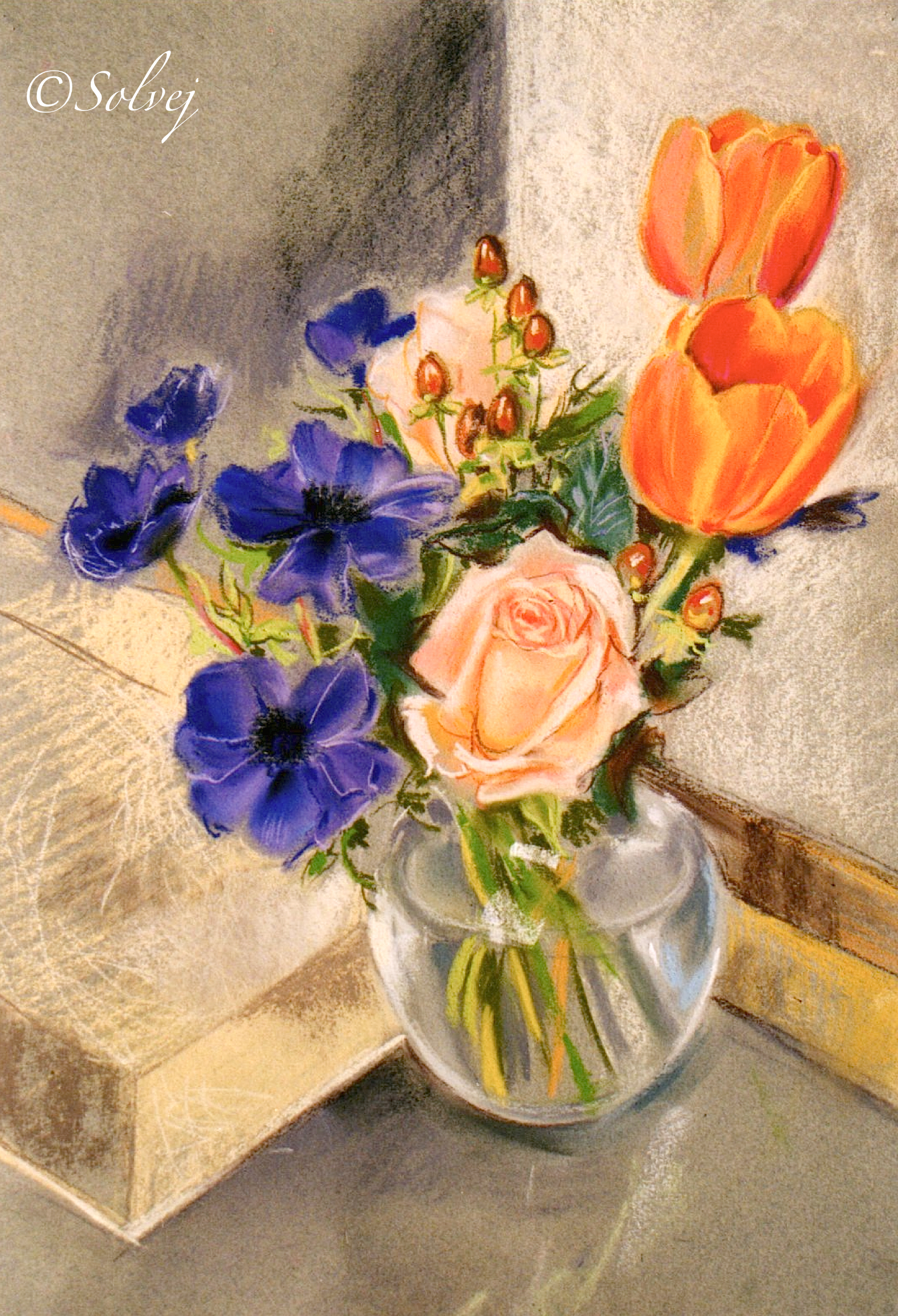 Anémones,roses,tulipes 339